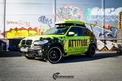 BMWX5 foliert i Atomic Lime fra PWF-16