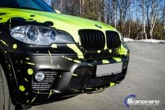 BMWX5 foliert i Atomic Lime fra PWF-17
