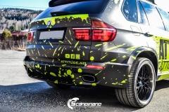 BMWX5 foliert i Atomic Lime fra PWF-19