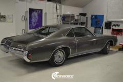 Buick Riviera 1963 Foliert med black satin