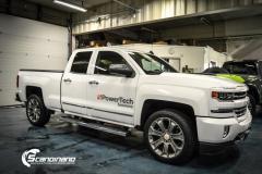 Chevrolet silverado foliert med white gloss