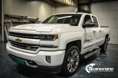chevrolet silverado foliert white gloss Scandinano-2