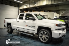 chevrolet silverado foliert white gloss Scandinano-4