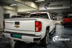 chevrolet silverado foliert white gloss Scandinano-5