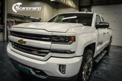 chevrolet silverado foliert white gloss Scandinano-6
