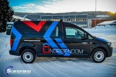 Dekorert Volkswagen Caddy for Noreiendom-