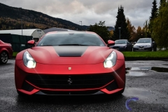 Ferari F12 foliert i rod matt chrome-2