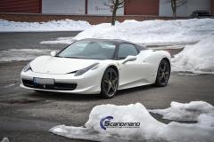 Ferrari foliert i Scandinano Satin Pearl White_-4