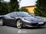 Ferrari foliert Satin dark grey