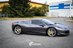 Ferrari foliert Satin dark grey Scandinano_-6