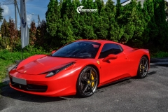 Ferrari Spider helfoliert med Gloss Hot Rod Red fra 3M-12