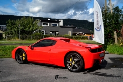 Ferrari Spider helfoliert med Gloss Hot Rod Red fra 3M-13