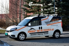 Fiat Doblo Maxi profilert for Norway tak og fasade-5