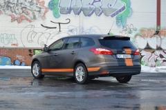 Ford focus foliert i matte bronze dekor-2