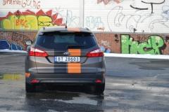 Ford focus foliert i matte bronze dekor