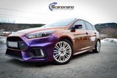 Ford Focus RS foliert med Flow Roaring Thunder Gloss +dekor