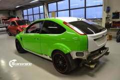 Ford focus RS foliert i green Scandinano_-2