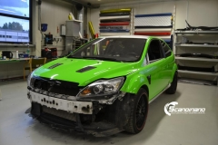 Ford focus RS foliert i green Scandinano_