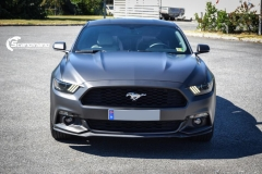 Ford Mustang foliert Matt Diamond Black Metallic Scandinano-2