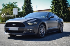 Ford Mustang foliert Matt Diamond Black Metallic Scandinano-3