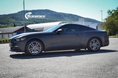 Ford Mustang foliert Matt Diamond Black Metallic Scandinano-4
