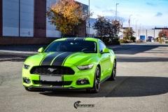 Ford Mustang helfoliert i Gloss Light Green fra 3M