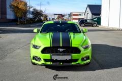 Ford Mustang helfoliert i Gloss Light Green fra 3M (3 из 12)