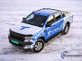 Ford Ranger designet og helfoliert i Gloss blue fire , Perl white med utskåret folie