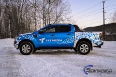 Ford Ranger designet og helfoliert i Gloss blue fire,Perl white med utskåret folie-2