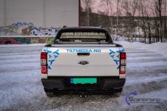 Ford Ranger designet og helfoliert i Gloss blue fire,Perl white med utskåret folie-3