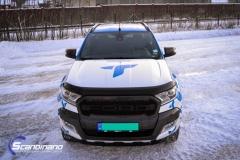 Ford Ranger designet og helfoliert i Gloss blue fire,Perl white med utskåret folie-4