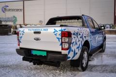 Ford Ranger designet og helfoliert i Gloss blue fire,Perl white med utskåret folie-5