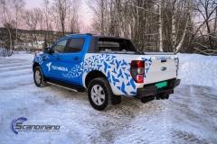 Ford Ranger designet og helfoliert i Gloss blue fire,Perl white med utskåret folie-6
