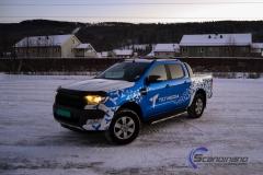 Ford Ranger designet og helfoliert i Gloss blue fire,Perl white med utskåret folie-9
