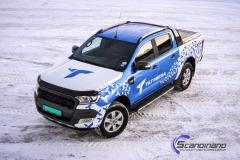 Ford Ranger designet og helfoliert i Gloss blue fire,Perl white med utskåret folie
