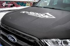 Ford Ranger helfoliert i Matt Diamond Black fra PWF (9 из 9)