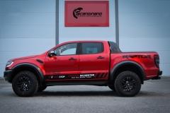 Ford Ranger Raptor Helfoliert i Ruby Red fra PWF