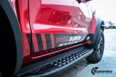 Ford Ranger Raptor Helfoliert i Ruby Red fra PWF-12