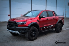 Ford Ranger Raptor Helfoliert i Ruby Red fra PWF-2