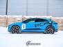 Jaguar I-Pace Helfoliert med Avery Light Blue Gloss med dekor
