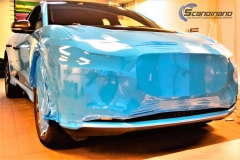 Jaguar I-Pace Helfoliert i Avery Light Blue Gloss med dekor-0409