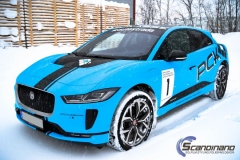 Jaguar I-Pace Helfoliert i Avery Light Blue Gloss med dekor-0417