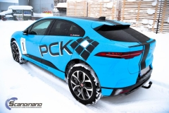 Jaguar I-Pace Helfoliert i Avery Light Blue Gloss med dekor-0430