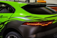 Jaguar I-Pace helfoliert i Gloss Light Green fra 3M , Black Diamond Black fra PWF (1 из 12)