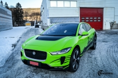 Jaguar I-Pace helfoliert i Gloss Light Green fra 3M , Black Diamond Black fra PWF (11 из 12)