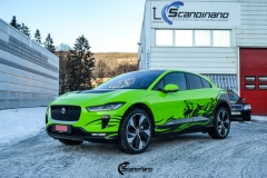 Jaguar I-Pace helfoliert i Gloss Light Green fra 3M , Black Diamond Black fra PWF (4 из 12)