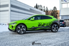 Jaguar I-Pace helfoliert i Gloss Light Green fra 3M , Black Diamond Black fra PWF (5 из 12)