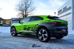 Jaguar I-Pace helfoliert i Gloss Light Green fra 3M , Black Diamond Black fra PWF (6 из 12)