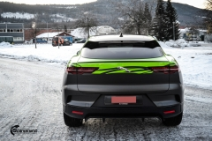 Jaguar I-Pace helfoliert i Gloss Light Green fra 3M , Black Diamond Black fra PWF (7 из 12)