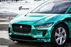 Jaguar I-PACE helfoliert i Turquoise Super Chrome fra Hexis-10